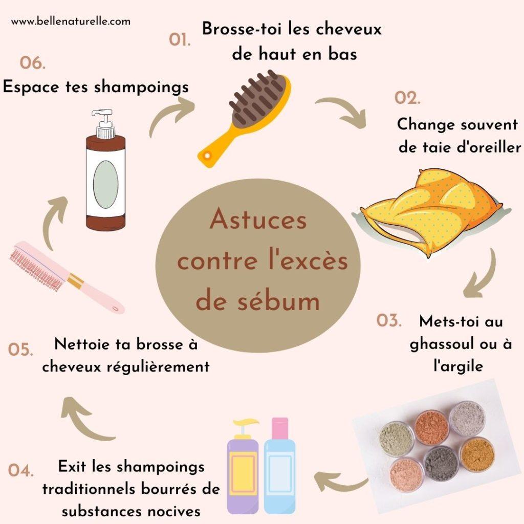 astuces cheveux gras